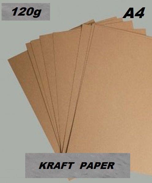 KRAFT PAPER 120g - Крафт хартия А4 120 гр / пакет 20 листа