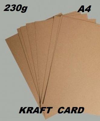 KRAFT KARTON 230g - Крафт картон А4 230 гр / пакет 10 листа