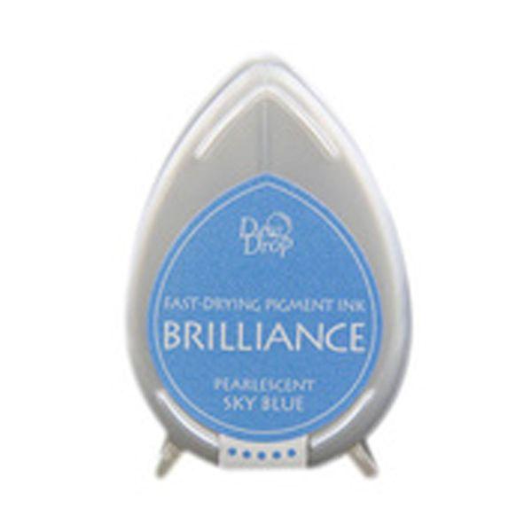 BRILLIANCE DewDrop Pigmet Ink, Japan - Тампон с бързо съхнещо мастило - SKY BLUE PEARLESCENT