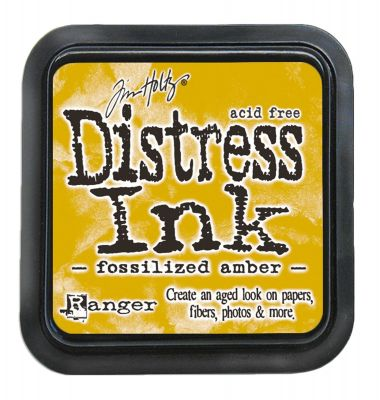 """NEW Distress ink pad by Tim Holtz - Тампон, """"Дистрес"""" техника - Fossilized Amber"""