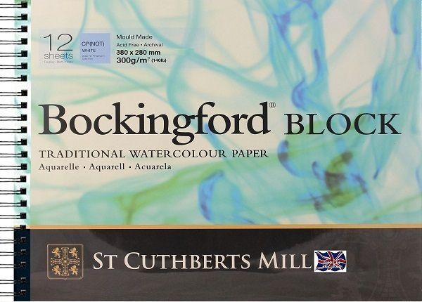 # BOCKINGFORD BLOCK SPIRAL 300g - АКВАРЕЛЕН блок 12л / 380х280
