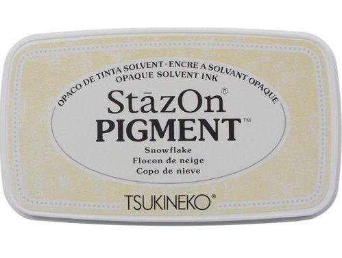 StazOn PIGMENT - Тампон за всякаква твърда или гланцирана повърхност - Плътно Бяло