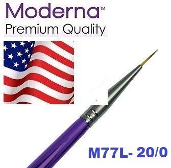 MODERNA BRUSH Liner, USA - Профи `лайнер` четка за различни техники 20/0 / №000
