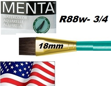 "MENTA BRUSH WASH , USA - Профи четка ""катеричка"" за различни техники 3/4"