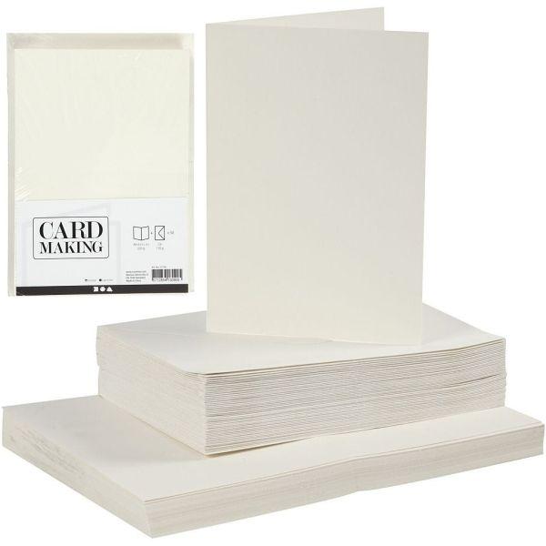 CREATIVE cards & envelopes 105 x 150mm - 50 двойни картички + 50 плика OFF-WHITE