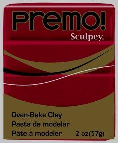 `PREMO` USA - Професионална серия полимерна глина - Alizarin Crimson , 2oz