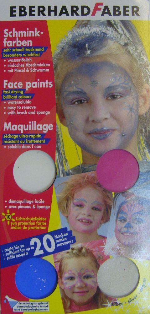 Комплект грим-бои за лице водоразтворими, 4цв. - EFА, Germany