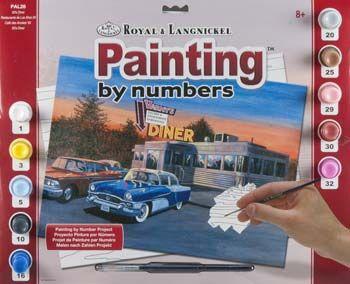 R&L USA A3- # 50'S DINER - Рисуване по номера * PAL28