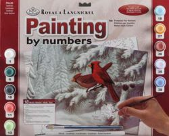 R&L USA A3- # CARDINALS - Рисуване по номера  * PAL32