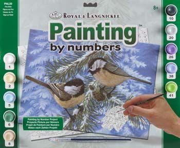 R&L,USA A3- # PINE BIRDS - Рисуване по номера  * PAL33
