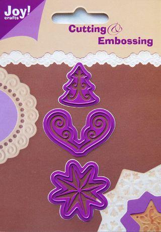 JOY Crafts - Щанци за рязане и ембос  3бр - 6002/0017