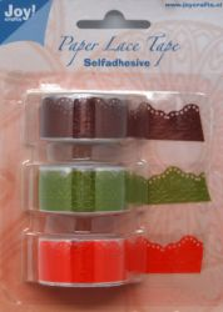 Joy Crafts Paper Lace -СЗЛ ширити 3бр 18мм х1,5 м  6300/0404