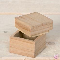 BOX CUBE Artemio - Дървена малка кутийка куб