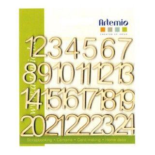 NUMBERS DECO WOOD  - Дървени цифри 1.5 см.