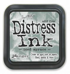 "Distress ink pad by Tim Holtz - Тампон, ""Дистрес"" техника - Iced Spruce"