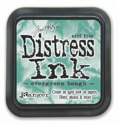 "Distress ink pad by Tim Holtz - Тампон, ""Дистрес"" техника - Evergreen Bough"