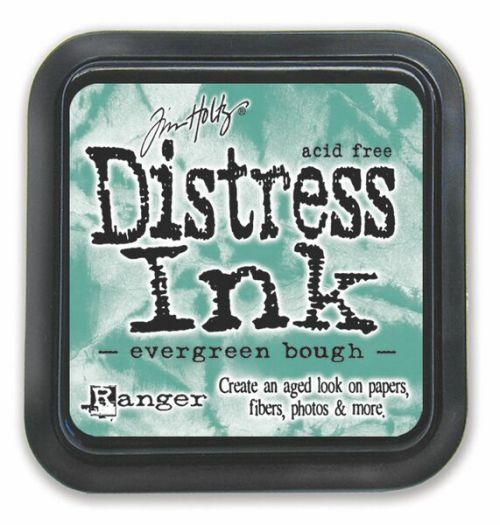 "Distress ink pad by Tim Holtz - Тампон, ""Дистрес"" техника - Evergreen Bough"