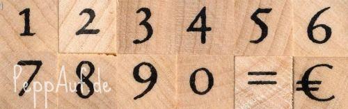 Artemio - Гумени печати на дървено блокче