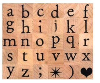Artemio - Гумени печати на дървено блокче 30 бр.