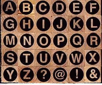 Artemio - Гумени печати на дървено блокче - 30 бр.