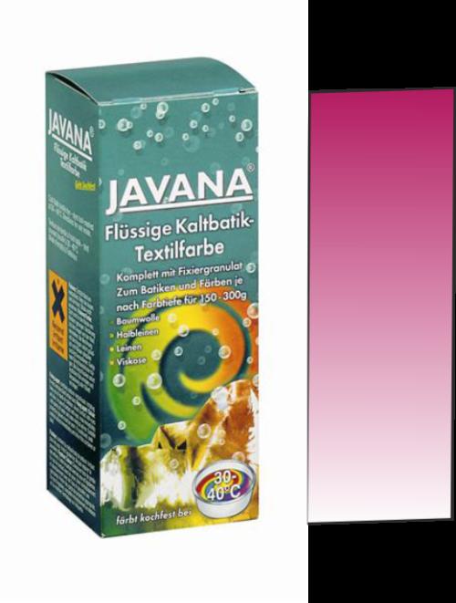 Javana, Germany - Течна текстилна боя за батика и цялостно боядисване 30/40 градуса - ЧЕРВЕНА ЦИКЛАМА