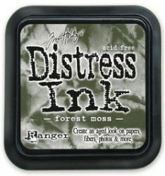 "Distress ink pad by Tim Holtz - Тампон, ""Дистрес"" техника - Forest moss"