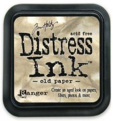 "Distress ink pad by Tim Holtz - Тампон, ""Дистрес"" техника - Old paper"