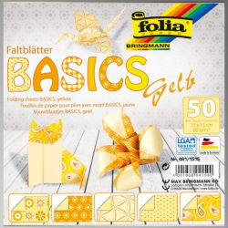"FB BASICS YELLOW BLOCK 6""x6"" - БЛОК дизайнерски хартии 50л./15х15см."