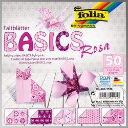 "FB BASICS LT PINK BLOCK 6""х6"" - БЛОК дизайнерски хартии 50л./15х15см."