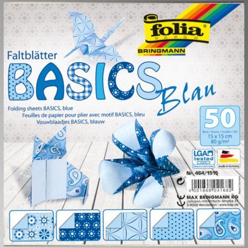 "FB BASICS BLUE BLOCK 6""x6"" - БЛОК дизайнерски хартии 50л./15х15см"