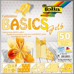 "FB BASICS YELLOW BLOCK 8x8"" - БЛОК дизайнерски хартии 50л / 20х20см"