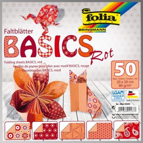 "FB BASICS RED BLOCK 8x8"" - БЛОК дизайнерски хартии 50л. / 20х20см"