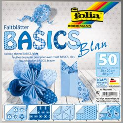 "FB BASICS BLUE BLOCK 8x8"" -  БЛОК дизайнерски хартии 50л / 20х20см"