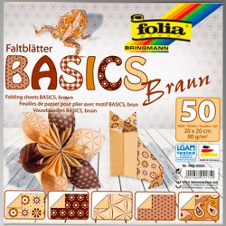 "FB BASICS BROWN BLOCK 8х8"" -  БЛОК дизайнерски хартии 50л / 20х20см."