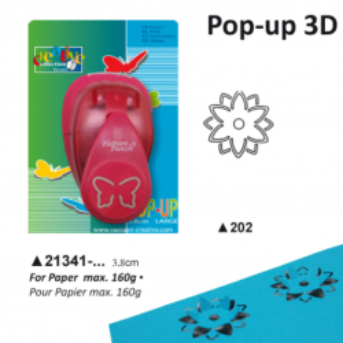 CREATIVE Пънч 3D 3.8 см. -ЦВЕТЕ
