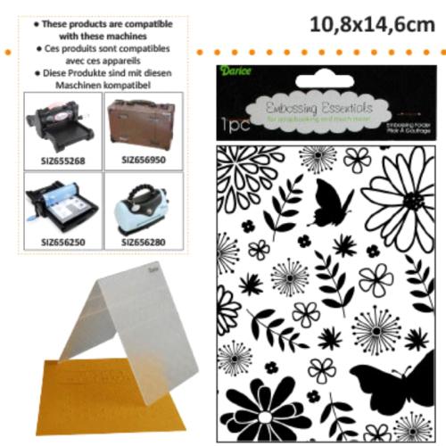 DARICE Emboss Folder  - Папка за релеф 108 х 146 мм. Floral