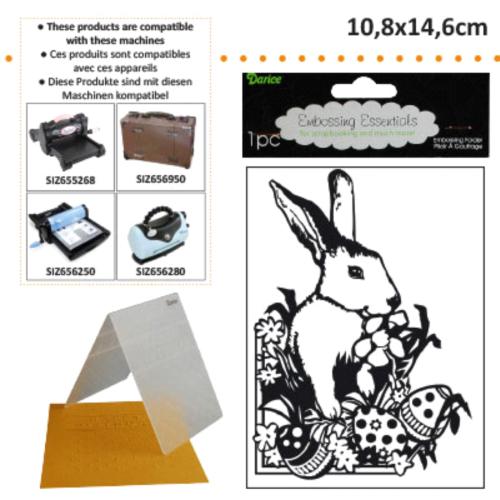 DARICE - Ембос папка, 108 х 146 мм. Easter Bunny