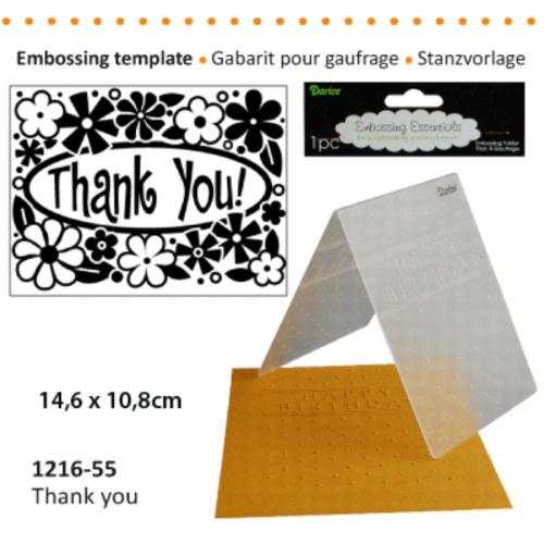 DARICE Emboss Folder -  Папка за релеф 108 х 146 мм. Thank You