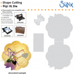 CARD Sizzix Bigz XL - Die card circle scallopbow - Щанци за рязане