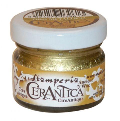 CERANTICA, Stamperia - Перлена восъчна антична паста -Злато/Oro