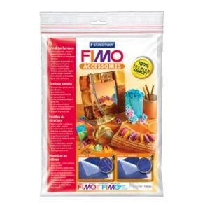 "FIMO - 2бр. Текстурни плочи за моделиране - ""Croco"" and ""Leather"""