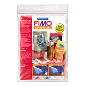 "FIMO - 2бр. Текстурни плочи за моделиране - ""Music"" and ""Calligraphy"""