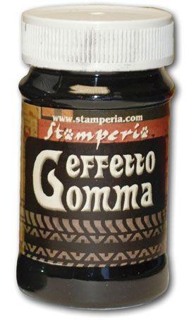 Effetto Gomma,Stamperia -Паста с ефект на гума 100ml  - Графит-сиво