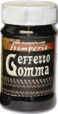 Effetto Gomma,Stamperia -Паста с ефект на гума 100ml  - Антрацит-черно