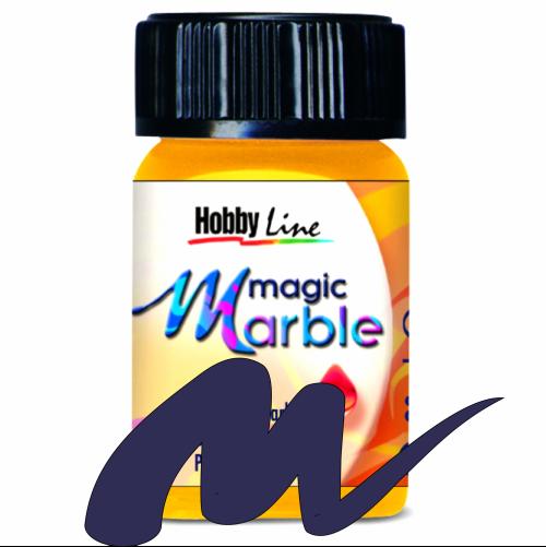 Magic Marble - Боя за мраморен ефект,20мл. - Тъмно синьо