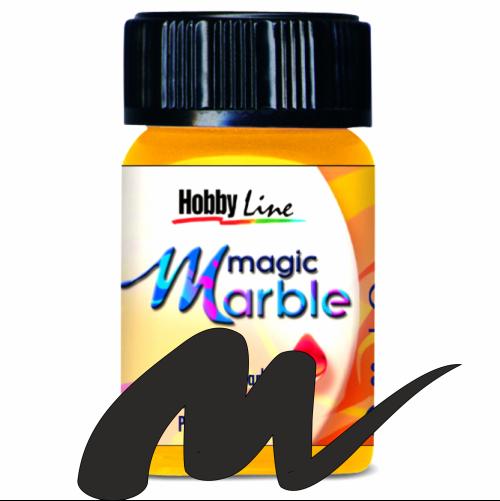 Magic Marble - Боя за мраморен ефект,20мл. - Черно