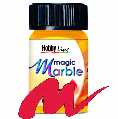 Magic Marble - Боя за мраморен ефект,20мл. - Металик червено
