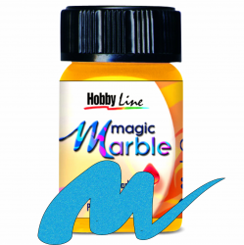 Magic Marble - Боя за мраморен ефект,20мл. - Металик синьо