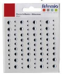 Artemio SILVER GEMS - Самозалепващи перлички 80 бр.