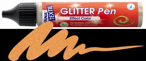 JAVANA GLITTER PEN - Контур с брокат за текстил и др., 29 мл. - Оранж